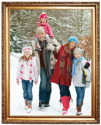 family portrait in frame