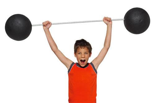 kids weight lifting