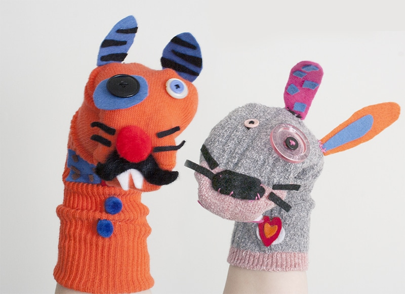 Valentine's Day Sock Puppet Craft - NJ Family