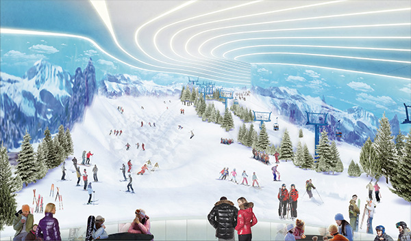 The First Indoor Snow Park In North America Is Coming To