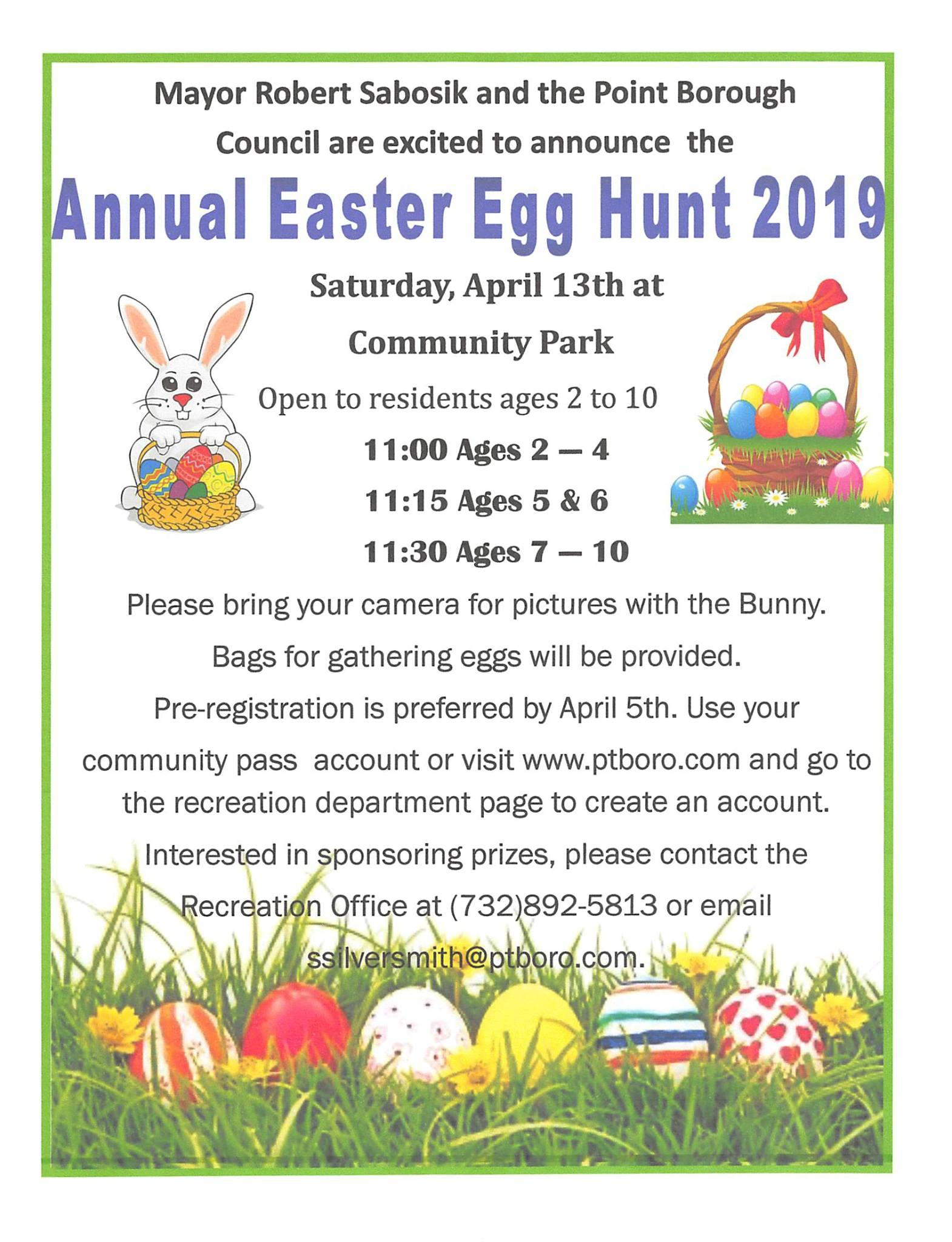 point pleasant borough egg hunt