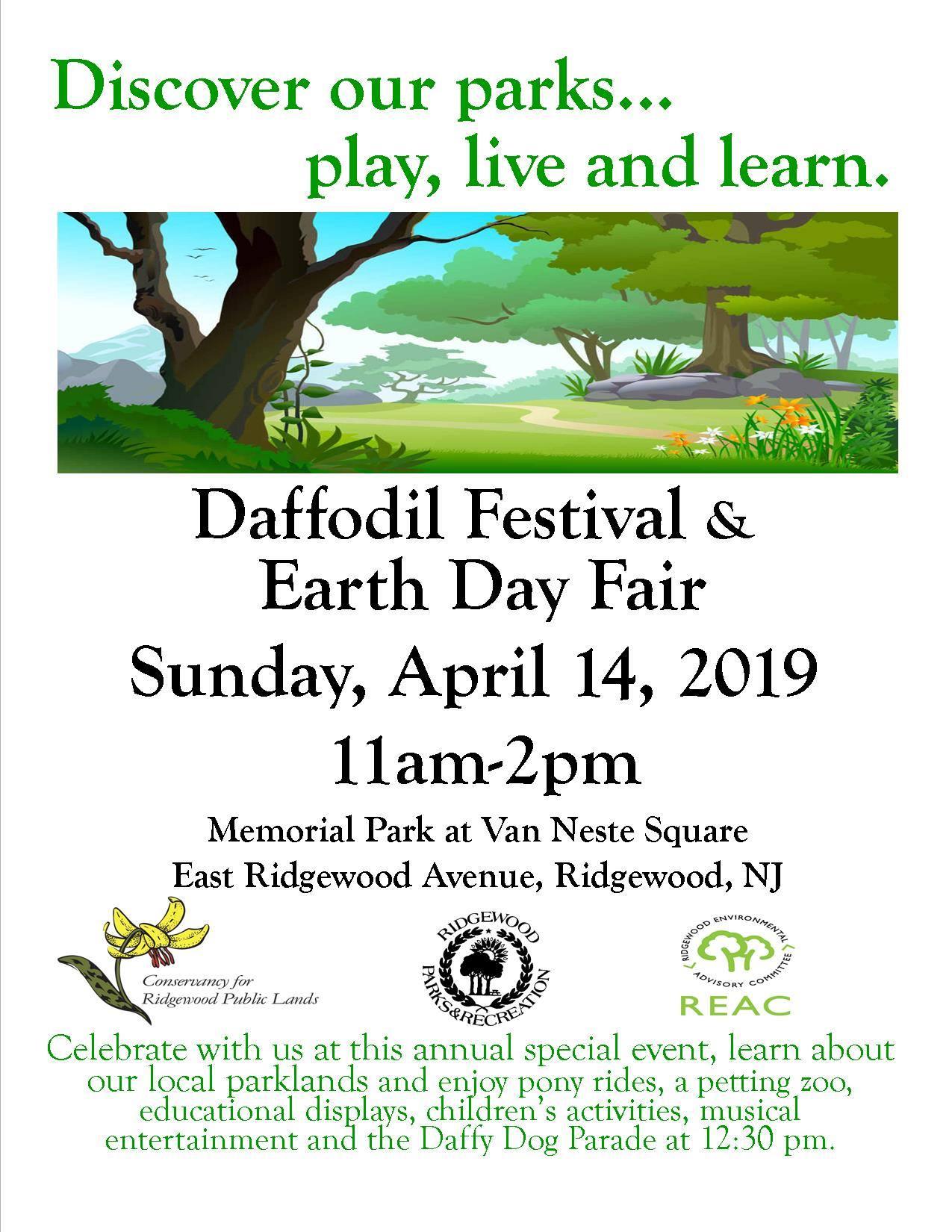 Ridgewood Daffodil Festival and Earth Day Fair