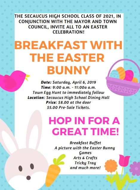 Secaucus Breakfast with the Easter Bunny