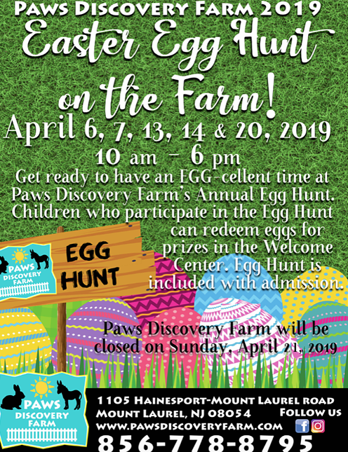 Paws Discovery Farm 2019 Easter Egg Hunt on the Farm