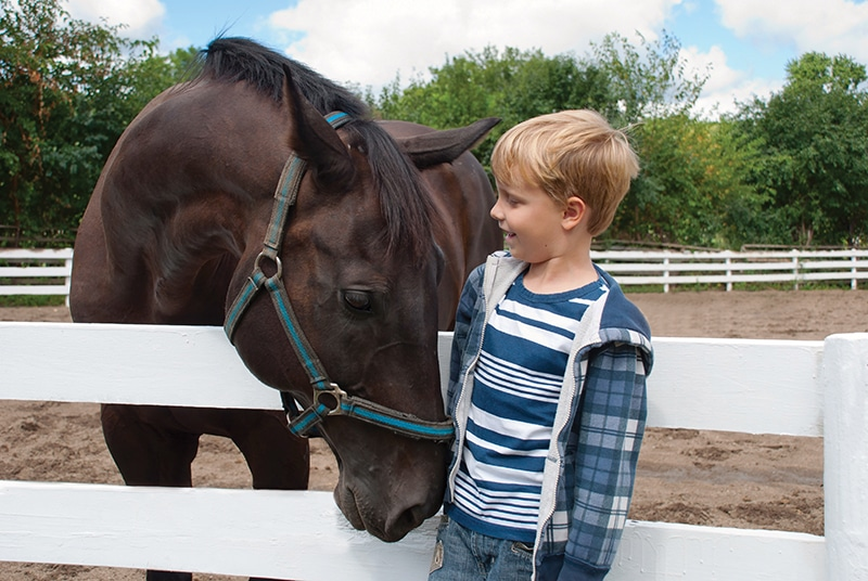 children with autism and horse