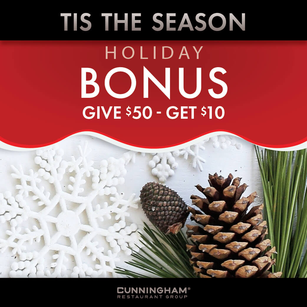 Holiday Promo, Buy $50, get $10