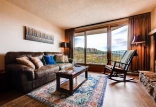 #1002 - Spectacular Panoramic View Overlooking Slopes! Private Patio! Ski In - Walk Out! -