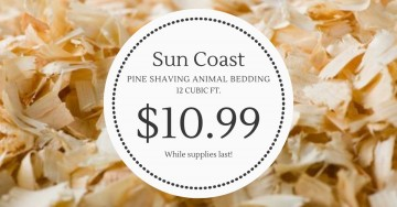 Sun Coast Pine Shaving Animal Bedding NOW $10.99