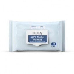 Blue Unity 40 Classic 75% Alcohol Wipes
