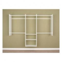 Easy Track 4' to 8' Basic Starter Closet - White