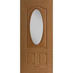 Belleville 3 Panel Arch Top Oval Lite Exterior Doors