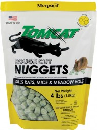 Tomcat Rough Cut Nuggets Kills Rats & Mice, 4 pound bag
