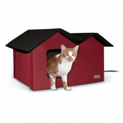 Outdoor Kitty House Extra-Wide