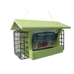 Hopper with Suet Cages, 5-qt 2-sided