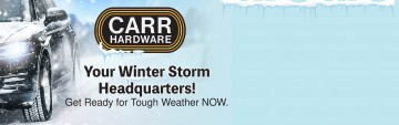 Come into Carr for all your winter needs!