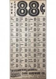 88 Cent Sale 1963
