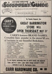 Great Barrington Grand Opening- Shoppers Guide June 1973