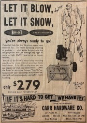 SnowBlower AD 1962