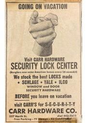 Vacation Security Lock AD 1968