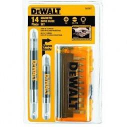 DeWalt Drive Guide Bit Set Heat-Treated Steel 14 pc.