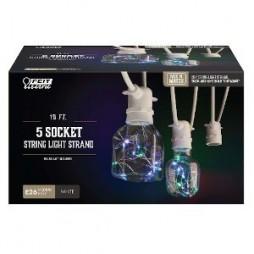 FEIT Electric 10' 5-Socket String Light Strand