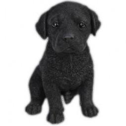 Realistic Black Labrador Puppy Statue