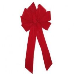 Red Velvet Bow #40 6 Loop