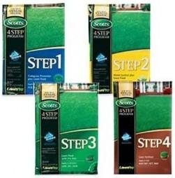 Scotts 4-Step Lawn Care Fertilizer Program