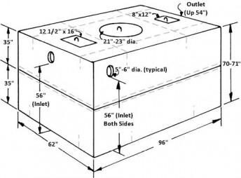 1 000 Gallon Concrete Septic Tank Oneonta Block Company Oneonta Ny Port Crane Ny