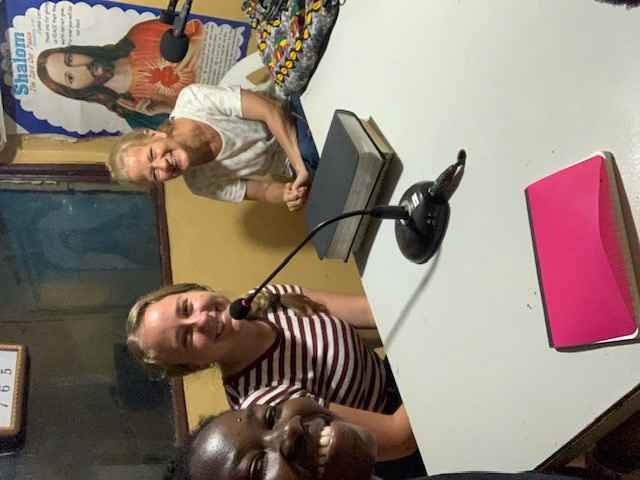 Lorvena and Madi doing a radio show