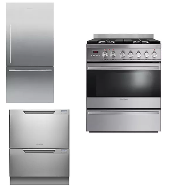 fisher paykel 3 unit kitchen package stainless dishwasher range 9