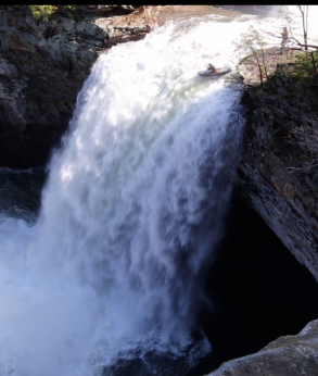 NOC Guide Sets Open Canoe Waterfall Record