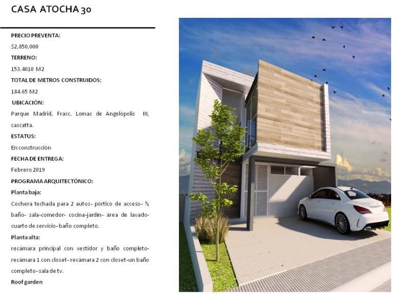 Casa en venta LOMAS DE ANGELOPOLIS PARQUE MADRID, San Andrés Cholula ...