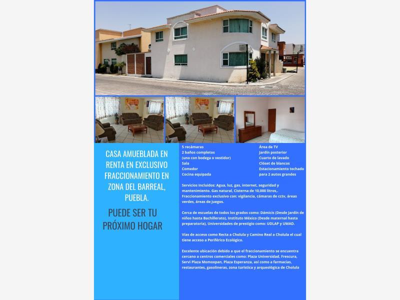 Casa en Renta, FRACC. RINCON DE LAS AMERICAS, San Andrés Cholula ...