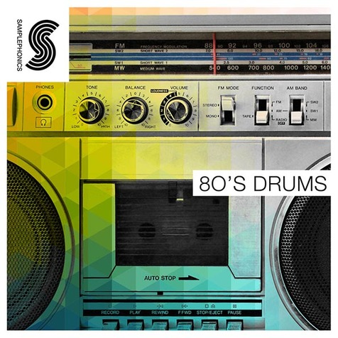80's Drums Electronic Sample Library, Royalty Free 24-Bit Wav