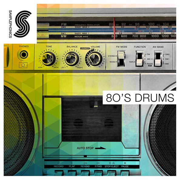 80's Drums Electronic Sample Library, Royalty Free 24-Bit | Noiiz