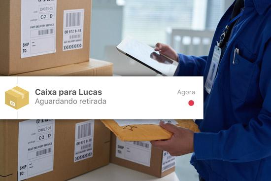Função de encomendas e correspondência