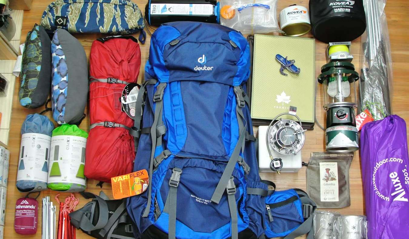 Packing in a backpack for a wild camping trip