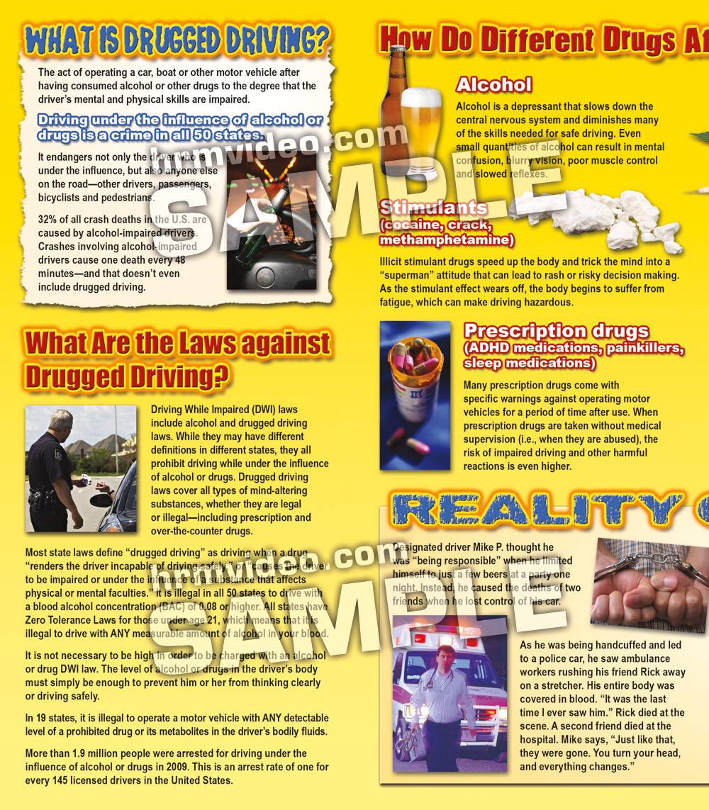 SPOTLIGHT on Drugged Driving Pamphlets - Human Relations