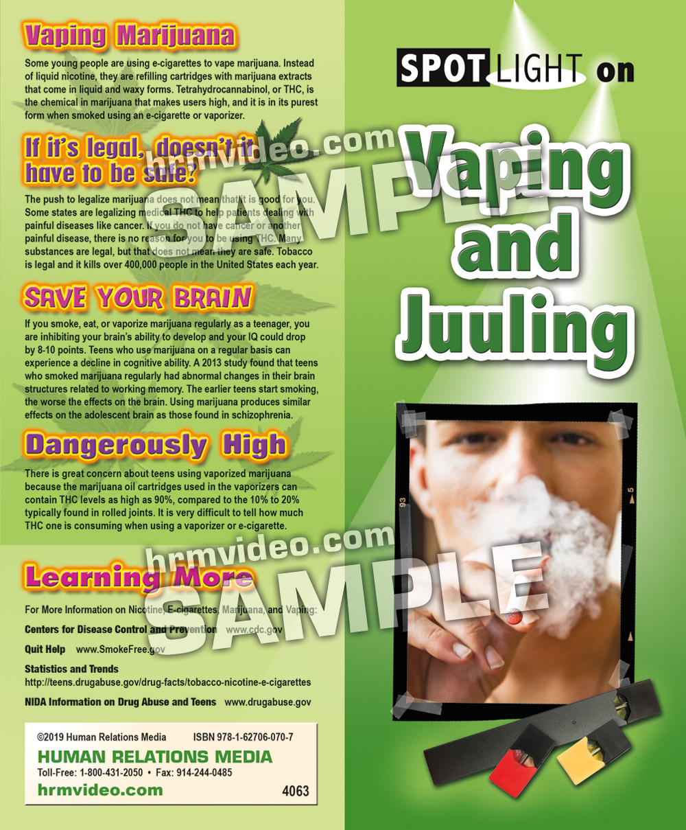 SPOTLIGHT on Vaping and Juuling Pamphlets - Human Relations
