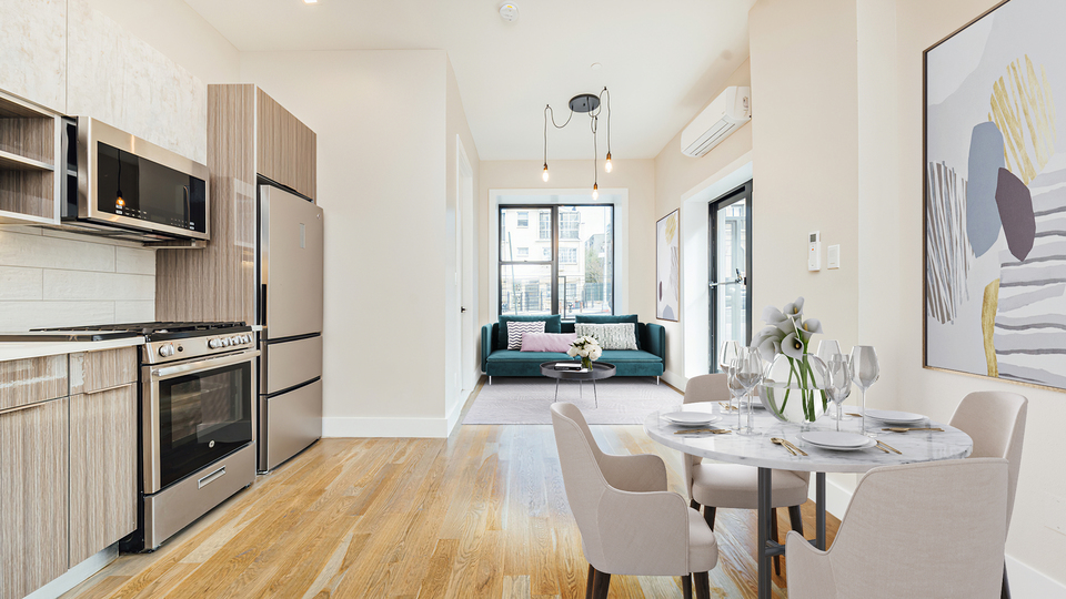 A $1,913.00, 1.5 bed / 1.5 bathroom apartment in Bushwick
