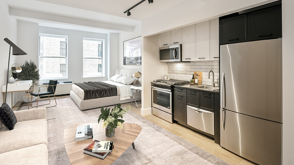 A $2,183.00, 0 bed / 1 bathroom apartment in Financial District