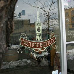 Big tree bottle painted sign brooklyn ny 1