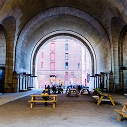 Archway under the manhattan bridge 6