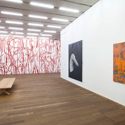 Global positioning systems history of painting installation view