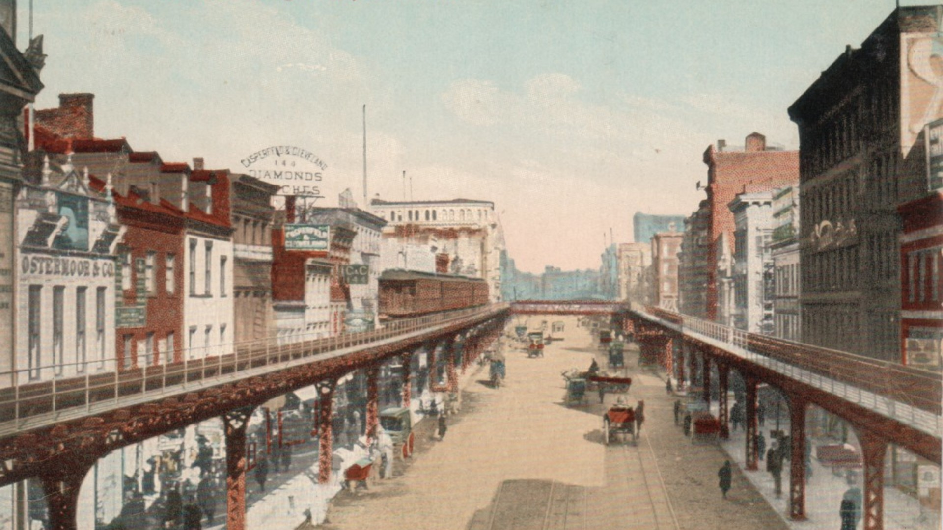 The bowery around 1910
