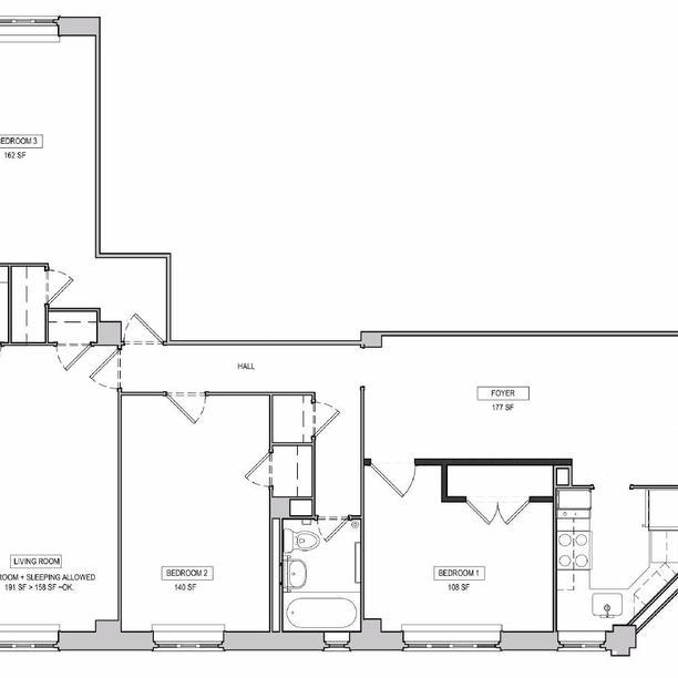 A 5730 apartment in Stuyvesant Town Manhattan Nooklyn – Stuy Town 2 Bedroom Floor Plan