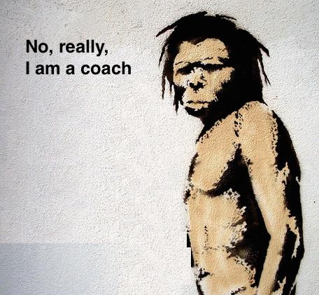 caveman, life coach marketing
