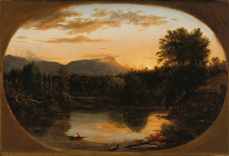 Sunset, View on the Catskill