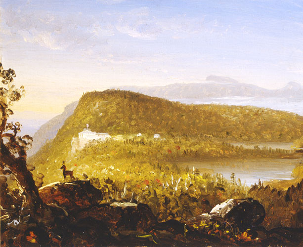 Study for A View of the Two Lakes and Mountain House, Catskill Mountains, Morning
